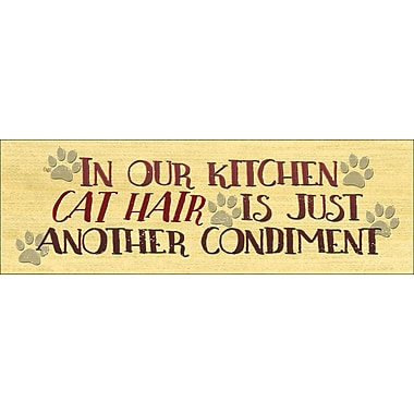 August Grove In Our Kitchen Cat Textual Art on Wood