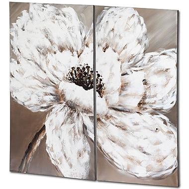 Red Barrel Studio Metallic Blossom 2 Piece Painting Print on Canvas Set