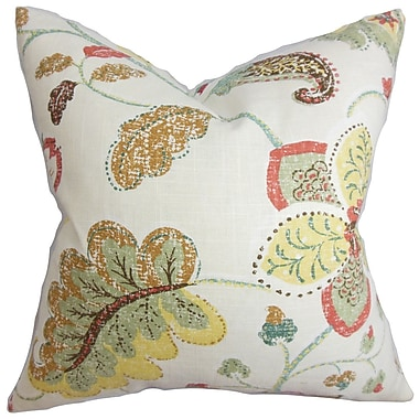 Darby Home Co Chamberlin Floral Throw Pillow Cover; Yellow