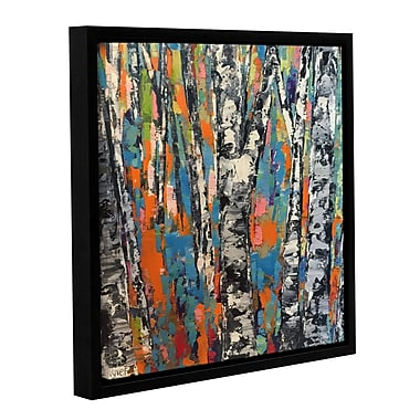 Ivy Bronx Neon Forest Framed Painting Print on Wrapped Canvas; 24'' H x 24'' W x 2'' D