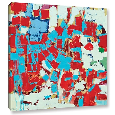 Ivy Bronx Fire and Ice Painting Print on Wrapped Canvas; 24'' H x 24'' W x 2'' D