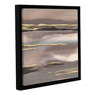 Ivy Bronx Gilded Morning Fog I Framed Painting Print; 18'' H x 18'' W x 2'' D