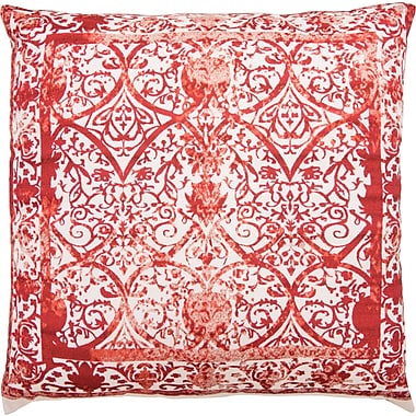 Mistana Chappel Throw Pillow; Ivory/Red/Terracotta