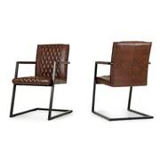 17 Stories Ganya Guest Chair (Set of 2)