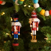 The Holiday Aisle 2 Piece King and Soldier Nutcracker Ornament Set