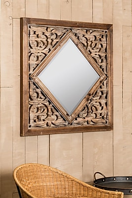Mistana Rustic Square Accent Wall Mirror