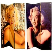 East Urban Home 71'' x 47'' Double Sided Manilyn Monroe 3 Panel Room Divider