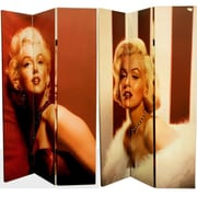 East Urban Home 71'' x 47'' Double Sided Classy Manilyn Monroe 3 Panel Room Divider