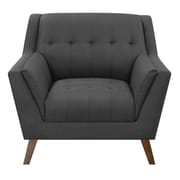 George Oliver Fairfield Armchair; Charcoal