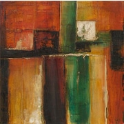 'Modern Abstract' 2 Piece Rectangle Wood Framed Oil Painting Print Set on Wrapped Canvas (Set of 2)