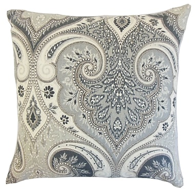 Darby Home Co Chandley Damask Throw Pillow Cover; Shadow