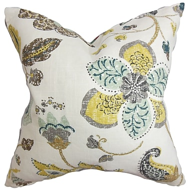Darby Home Co Chamberlin Floral Throw Pillow Cover; White