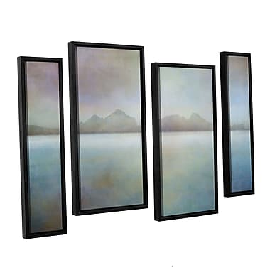 Ivy Bronx Landscape Iceland Westman 4 Piece Framed Photographic Print on Canvas Set