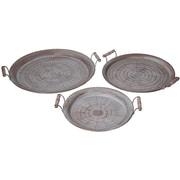 Mistana 3 Piece Stamped Iron Tray Set