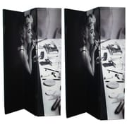 East Urban Home 71'' x 47'' Double Sided Vintage Grayscale Manilyn Monroe 3 Panel Room Divider