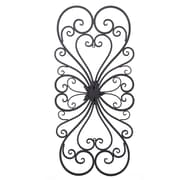 Fleur De Lis Living Floral Metal Wall D cor