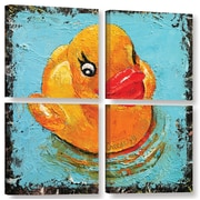 Ivy Bronx Rubber Duck 4 Piece Painting Print on Wrapped Canvas Set; 48'' H x 48'' W x 2'' D