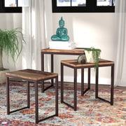 Mistana Chanler 3 Piece Nesting Tables; Reclaimed