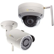 Q-see 3MP Wi-Fi (1) Bullet and (1) Dome Security Camera with 2 16GB microSD Card Included (2-Pack) (QCW3MPEN16-2)