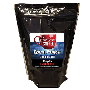 East Coast Coffee – Café moulu Gale Force, foncé, intense, sac de 1 lb