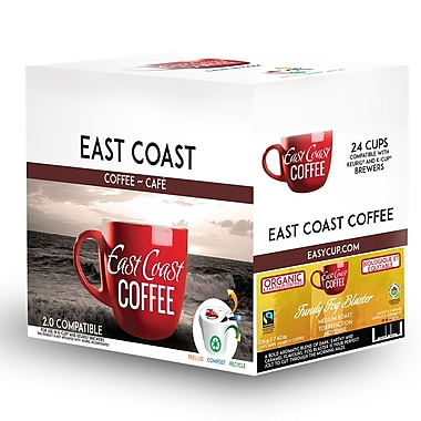 East Coast Coffee – Mélange bio Fundy Fog Blaster, torréfaction moyenne, recyclable, paq./24