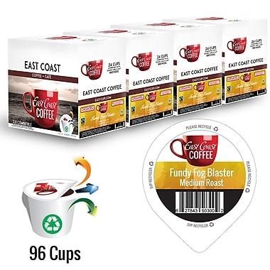 East Coast Coffee – Mélange bio Fundy Fog Blaster, torréfaction moyenne, recyclable, paq./96