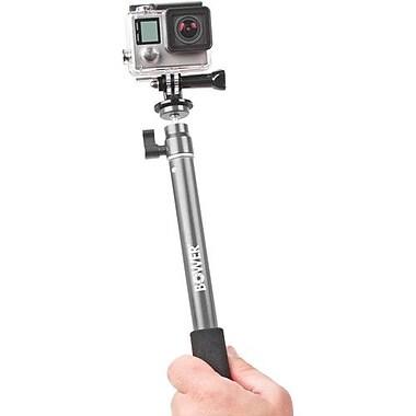 Bower - Perche à égoportraits avec déclencheur sans fil et support GoPro, argenté