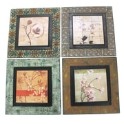 Cathay Importers Assorted Floral Ceramic Wall Decor (EC-22-0032)