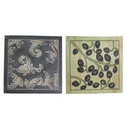 Cathay Importers – Décorations murales assorties en bois de placage à motif floral (EC-22-0049)