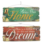 Cathay Importers Assorted Rustic Wood Wall Quotes (EC-24-0146)