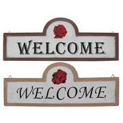 Cathay Importers – Citations murales rustiques « Welcome » en bois (EC-09-0671)