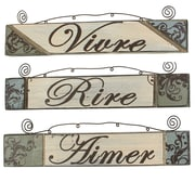 Cathay Importers Assorted Rustic Wood Wall Quotes (EC-24-0131)
