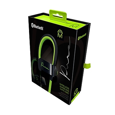 M – Écouteurs-boutons Pure sans fil Bluetooth, vert/noir (72323)