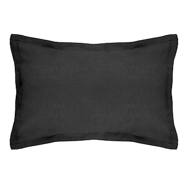 Alcott Hill Brownstown Linen Boudoir Pillow; Black