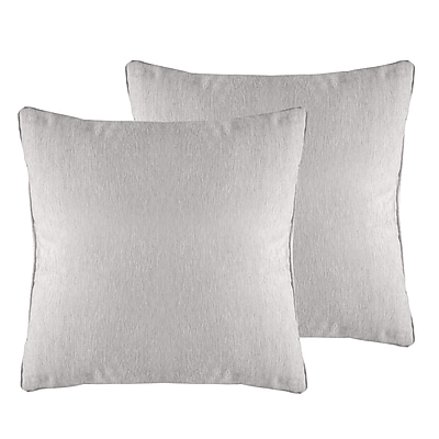 Alcott Hill Brownsburg Solid Chenille Throw Pillow (Set of 2); Silver