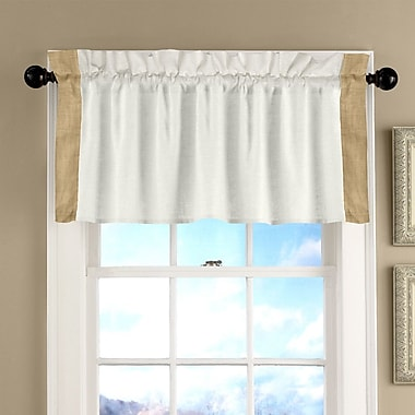 Alcott Hill Bluffridge 50'' Tailored Curtain Valance; Sand