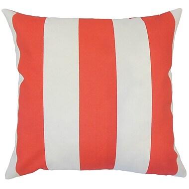 Brayden Studio Wieland Striped Down Filled 100pct Cotton Throw Pillow; 18'' x 18''