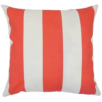 Brayden Studio Wieland Striped Down Filled 100pct Cotton Throw Pillow; 20'' x 20''