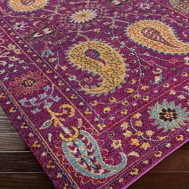 Mistana Nichole Purple Area Rug; 5'3'' x 7'3''