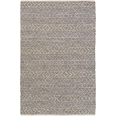Mistana Glass Cobalt/Light Gray Area Rug; 6' x 9'