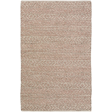 Mistana Glass Hand-Woven Rust/Gray Area Rug; 2' x 3'