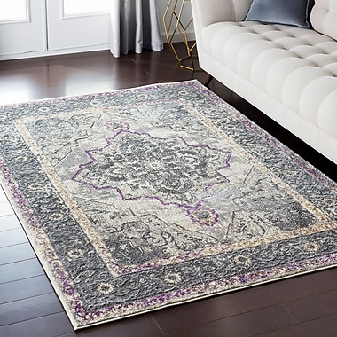 Mistana Nicole Gray/Brown Area Rug; 7'10'' x 10'3''