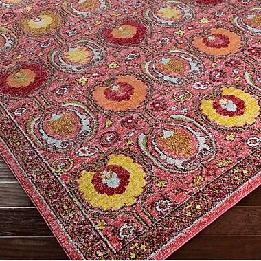 Mistana Nichole Oriental Pink Area Rug; 2' x 3'