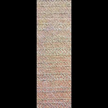 Mistana Glass Hand-Woven Rust/Gray Area Rug; Runner 2'6'' x 8'