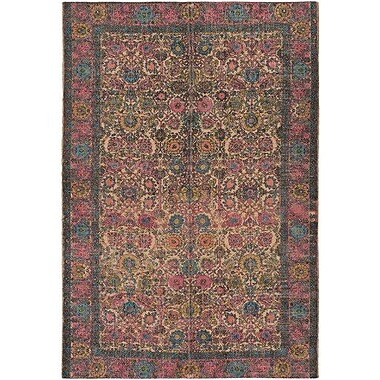 World Menagerie Borendy Oriental Hand-Woven Rectangle Neutral/Pink Area Rug; 2' x 3'