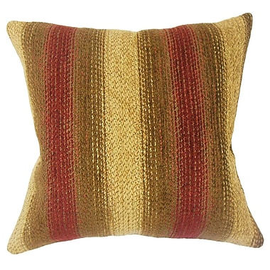 Red Barrel Studio Calmaberry Striped Down Filled Throw Pillow; 18'' x 18''