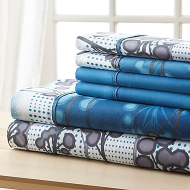Winston Porter Socorro Blue Branches Sheet Set; Full