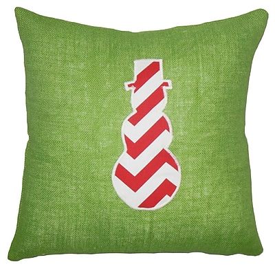 The Holiday Aisle Ulfa Holiday Floor Over Sized Green Pillow