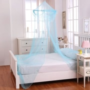 Click here to buy Casablanca Kids Raisinette Kids Collapsible Hoop Sheer Bed Canopy; Blue.
