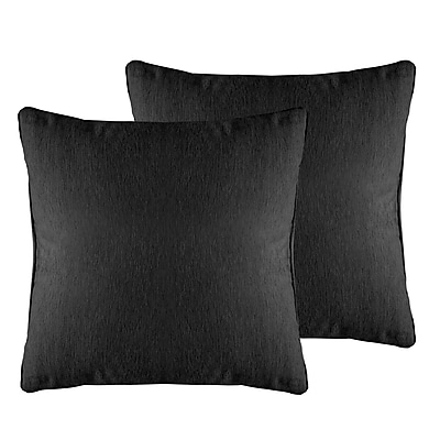 Alcott Hill Brownsburg Solid Chenille Throw Pillow (Set of 2); Charcoal